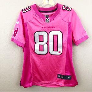the latest e763e 82679 Houston Texans NFL Jersey Pink Football Johnson 80